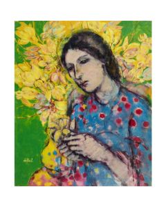 Lady with a Yellow Vase