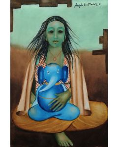 Parvati with Ganesh
