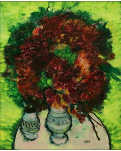 The Garnet Bouquet with Vases of Earthenware