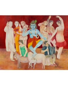 Krishna with the Dancers