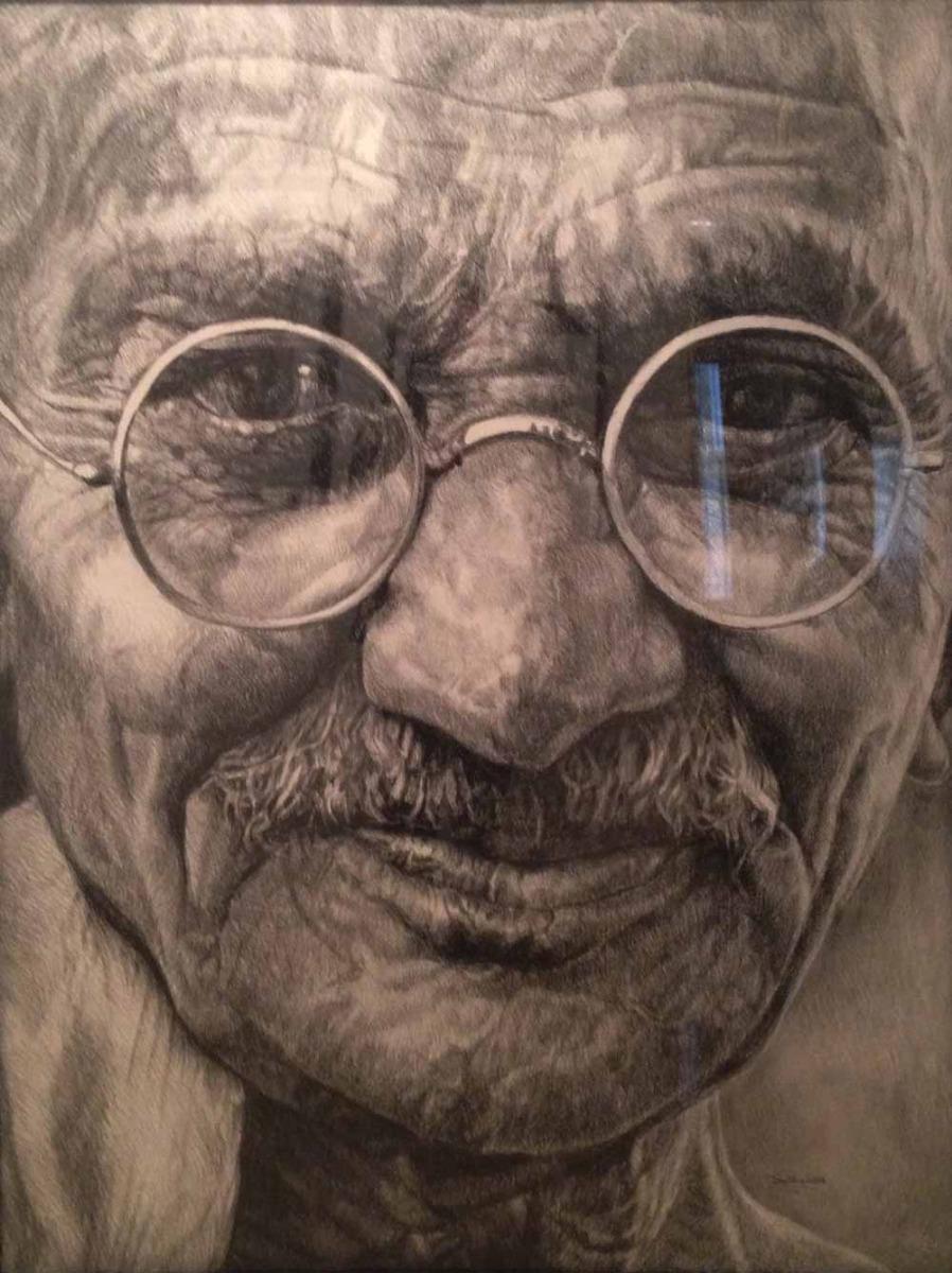 Gandhi, Portrait of Father